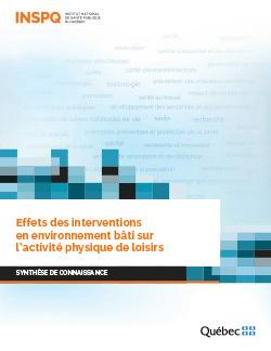 Effets des interventions  en environnement bâti sur l'activité physique de loisirs