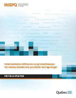 Interventions efficaces ou prometteuses de renoncement aux produits de vapotage