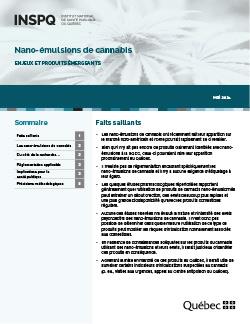 Nano-émulsions de cannabis : Enjeux et produits émergeants