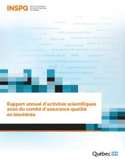 Rapport annuel d'activités scientifiques 2020 du comité d'assurance qualité  en biochimie