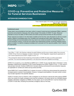 COVID-19: Preventive and Protective Measures for Funeral Services Businesses