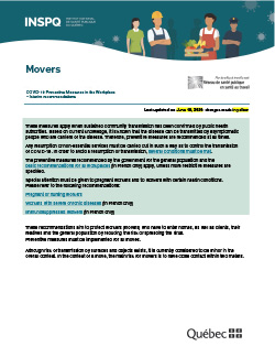 COVID-19: Interim Recommendations for Movers