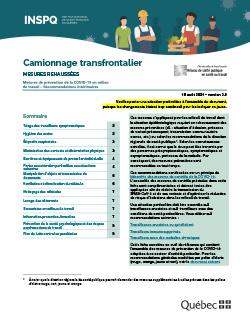 COVID-19 : Recommandations intérimaires concernant le camionnage transfrontalier