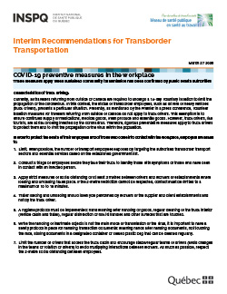 Interim Recommendations for Transborder Transportation