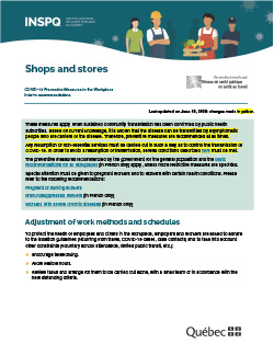 COVID-19: Interim Recommendations for Grocery Stores and Essential Businesses
