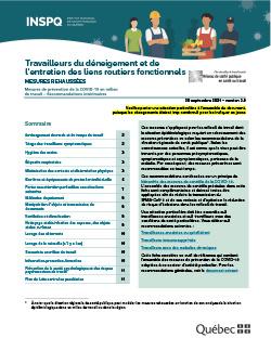 COVID-19 : Recommandations intérimaires concernant les travailleurs du déneigement et de l'entretien des liens routiers fonctionnels