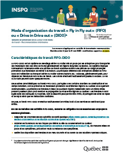 COVID-19 : Recommandations intérimaires concernant le mode d'organisation du travail «Fly in Fly out» ou «Drive in Drive out»