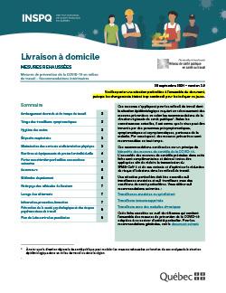 COVID-19 : Recommandations intérimaires concernant les livreurs à domicile (colis, livraison de restaurant, épicerie, etc.)