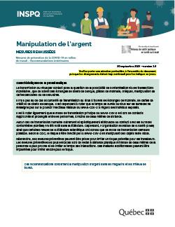 COVID-19 : Recommandations intérimaires concernant la manipulation d'argent dans les magasins et les milieux de travail