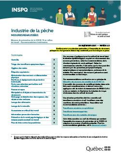 Industrie de la pêche : mesures de prévention de la COVID-19