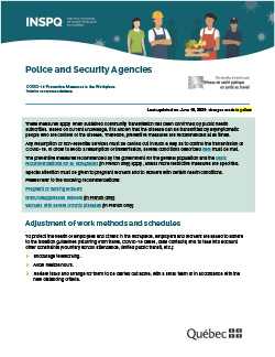 Interim Recommendations Concerning Police Officers and Security Guards