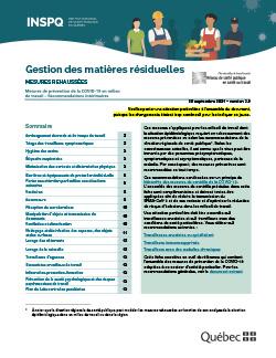COVID-19 : Recommandations intérimaires concernant les travailleurs de la gestion des matières résiduelles
