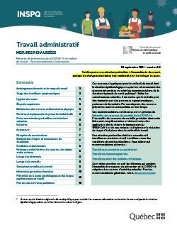 COVID-19 : Travail administratif