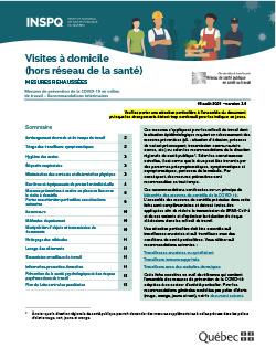 COVID-19 : Recommandations intérimaires à l'intention des travailleurs effectuant des visites à domicile (hors du domaine de la santé)