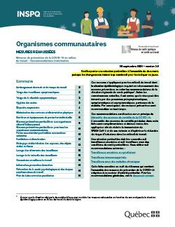 COVID-19 : Recommandations intérimaires concernant les organismes communautaires