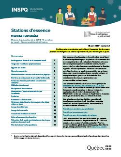 COVID-19 : Recommandations intérimaires concernant les travailleurs des stations d'essence