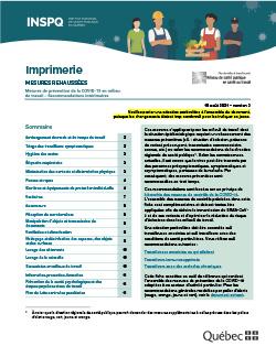 COVID-19 : Recommandations intérimaires concernant le secteur de l'imprimerie