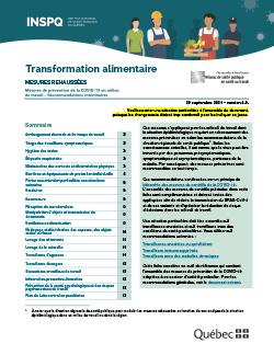 COVID-19 : Recommandations intérimaires concernant l'industrie de la transformation alimentaire