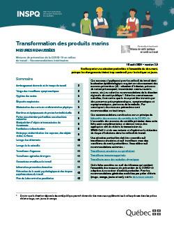 COVID-19 : Transformation des produits marins