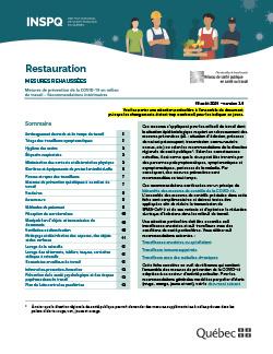 COVID-19 : Restauration (service au comptoir, à l'auto et livraison)