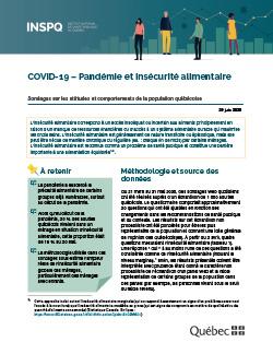 COVID-19: Pandémie et insécurité alimentaire