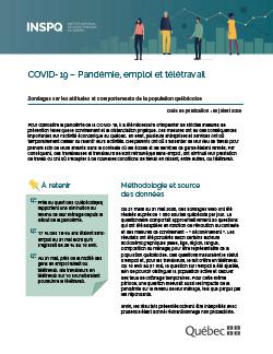 COVID-19 – Pandémie, emploi et télétravail