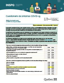 Cuestionario de síntomas COVID-19