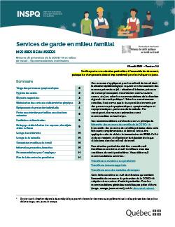 COVID-19 : Services de garde en milieu familial