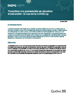 Transition à la parentalité en situation d'adversité : le cas de la covid-19