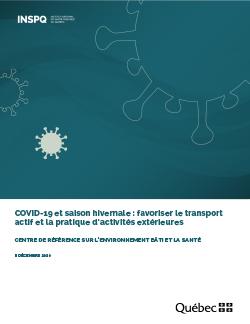 COVID-19 et saison hivernale : favoriser le transport actif et la pratique d'activités extérieures