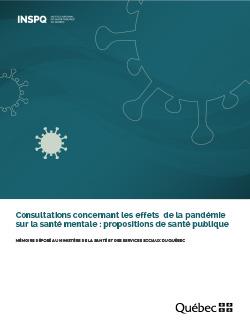 Consultations concernant les effets de la pandémie sur la santé mentale : propositions de santé publique