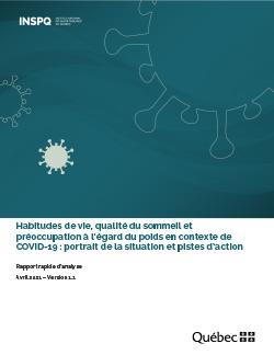 Habitudes de vie, qualité du sommeil et préoccupation à l'égard du poids en contexte de COVID-19 : portrait de la situation et pistes d'action
