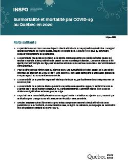 Surmortalité et mortalité par COVID-19 au Québec en 2020