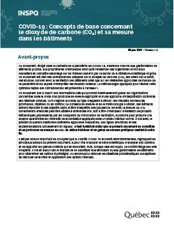 COVID-19 : Concepts de base concernant  le dioxyde de carbone (CO2) et sa mesure  dans les bâtiments