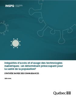 Inégalités d'accès et d'usage des technologies numériques : un déterminant préoccupant pour la santé de la population?
