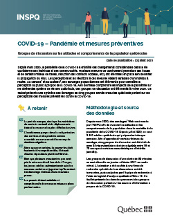 COVID-19 - Pandémie et mesures préventives