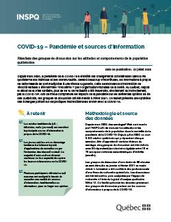 COVID-19 - Pandémie et sources d'information