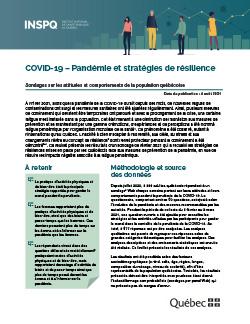 COVID-19 – Pandémie et stratégies de résilience