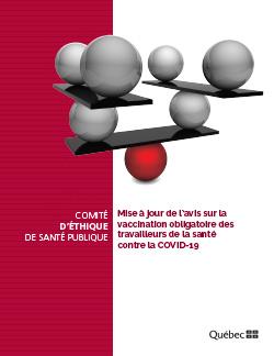 Mise à jour de l'avis sur la vaccination obligatoire des travailleurs de la santé contre la COVID-19