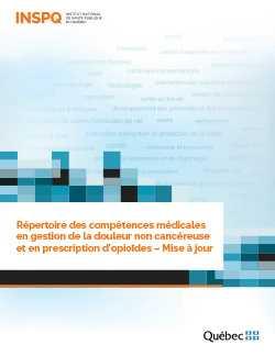 """<a href=""""/publications/2500"""">Répertoire des compétences médicales en gestion de la douleur non cancéreuse et en prescription d'opioïdes – Mise à jour</a>"""